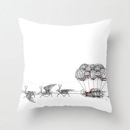 Steampunk Santa or Ferrous Father Christmas Throw Pillow