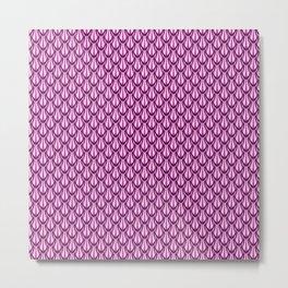 Gleaming Pink Metal Scalloped Scale Pattern Metal Print