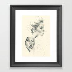 Double Hattie - Sketchbook Edition Framed Art Print