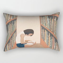 Getting Lost in a Book Rectangular Pillow