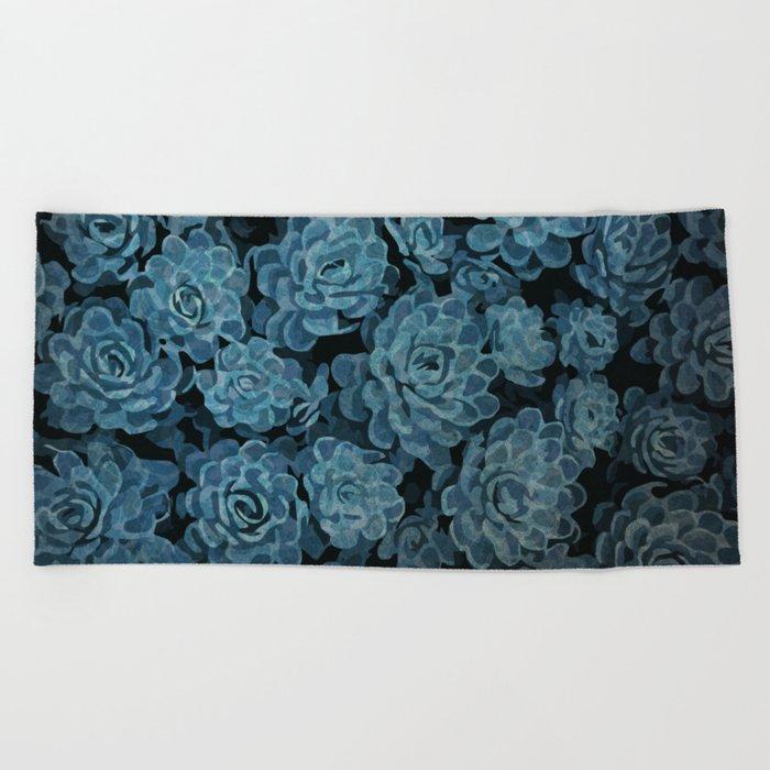 Succulent pattern Beach Towel