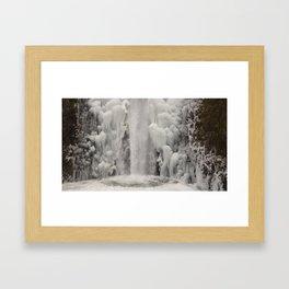 Waterfalls in Ice Framed Art Print