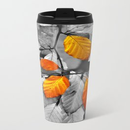 Gold leaf Metal Travel Mug
