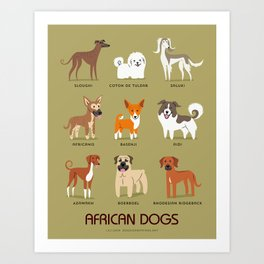 AFRICAN DOGS Art Print
