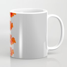 Red poppies strung out white & grey graphic Coffee Mug