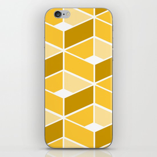 Simple Pattern Yellow iPhone Skin