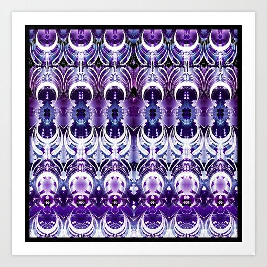 Ethnic Purple Majesty Art Print