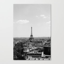 View from Arc de Triomphe Canvas Print