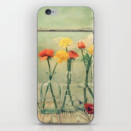 Ranunculus, Bottles and Window Still Life iPhone Skin