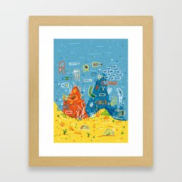 Plastic Sea Framed Art Print