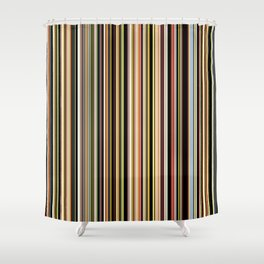 Old Skool Stripes - The Dark Side Shower Curtain