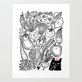 Funny Vegetables Art Print