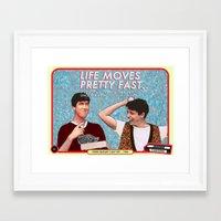 ferris bueller Framed Art Prints featuring FERRIS BUELLER  by Videoism