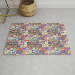 Colorful hearts Rug