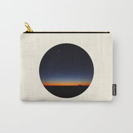 Orange & Blue Sunset Over The Australian Outback Round Photo Carry-All Pouch