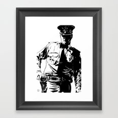 Guard with gun Framed Art Print