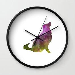 Karst Shepherd Dog in watercolor Wall Clock