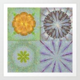 Triakisoctahedrid Unclad Flowers  ID:16165-023954-27470 Art Print