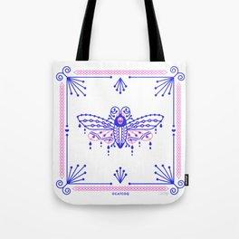 Death's Head Hawkmoth – Indigo & Pink Palette Tote Bag