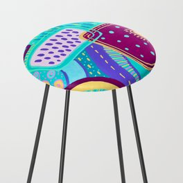 Pop Abstract Counter Stool