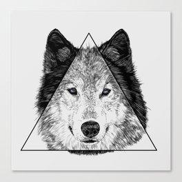 Trinity Wolf Canvas Print