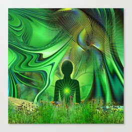Heart Chakra Energy. Canvas Print