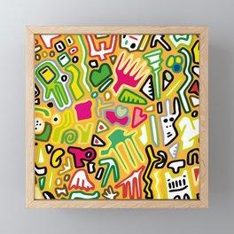 color doodle Framed Mini Art Print