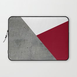 Concrete Burgundy Red White Laptop Sleeve