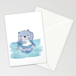 Kick Back Otter Stationery Cards