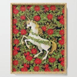 Christmas Unicorn Serving Tray