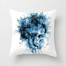 Skull Splash Throw Pillow