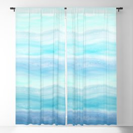 Sea Waves, Abstract Watercolor Painting Blackout Curtain