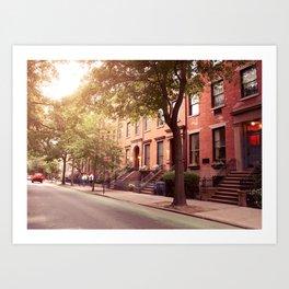 Brooklyn Heights neighborhood take me back Art Print