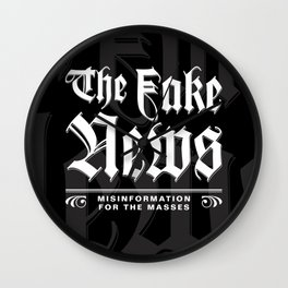 The Fake News Header Wall Clock