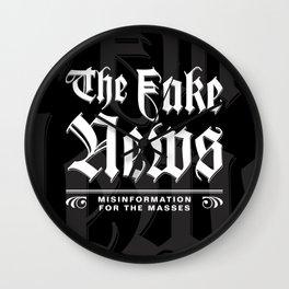The Fake News Header Wall Clock