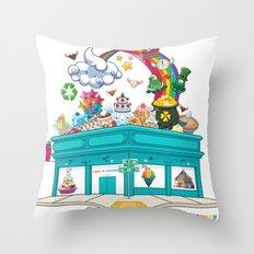 Kawaii Universe Studio Logo  Throw Pillow