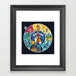 Life of Hanuman Framed Art Print