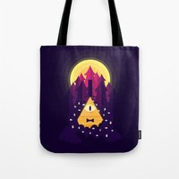 bill Tote Bags featuring BILL by badOdds