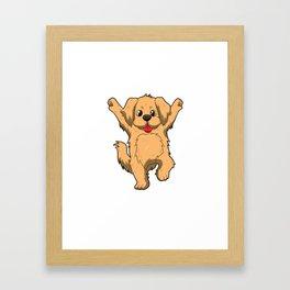 Jubilation Dog Dance Emote Funny Gift Framed Art Print