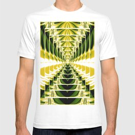 Abstract.Green,Yellow,Black,White,Lime. T-shirt