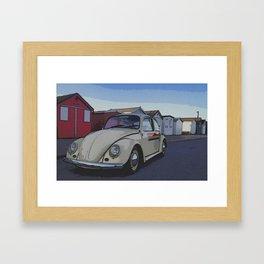 Southend on Sea Beach Huts Homage Framed Art Print