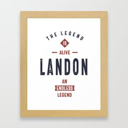 Landon Framed Art Print
