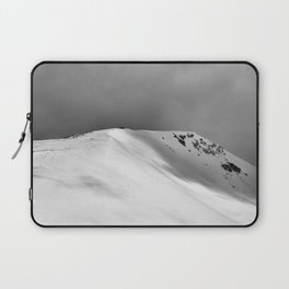 Snow Covered Mountain Slope Laptop Sleeve