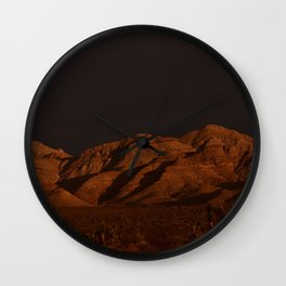 Desert Alpenglow - II Wall Clock