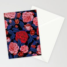 Red in Black Stationery Cards