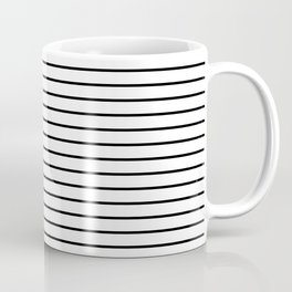 white lines, black and white stripes - striped design Coffee Mug