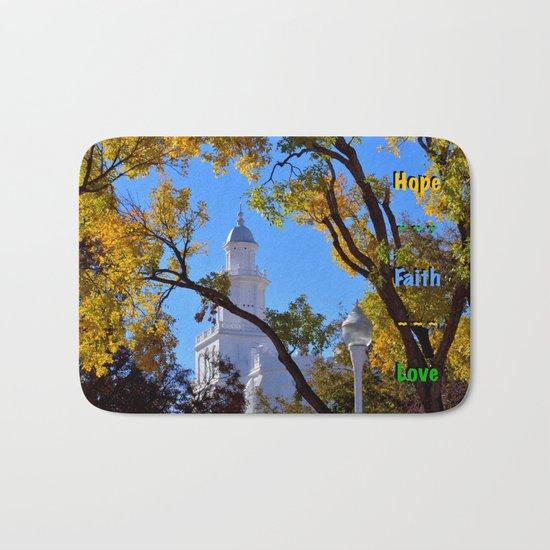 Hope ~ Faith ~ Love Bath Mat