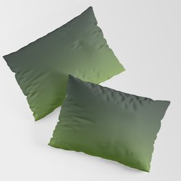 Ombre | Color Gradients | Gradient | Two Tone | Charcoal Grey | Lime Green | Pillow Sham