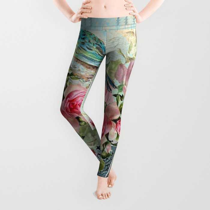 Tea Flowers #5 Leggings