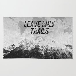 Leave Only Trails Rug